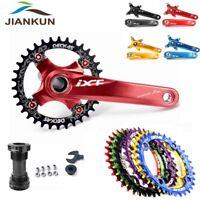 104BCD MTB Fahrrad Kurbel Kettenblatt 32 -38T Kurbel Set + BB fit Shimano SRAM
