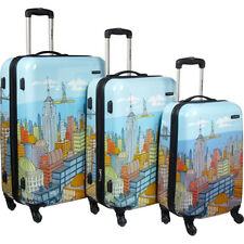 "Samsonite CityScapes NYC 3 Piece Set 20"", 24"", 28"" Premium Spinner Luggage Set"
