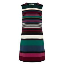 WAREHOUSE Striped Shift Dress Multi-Coloured
