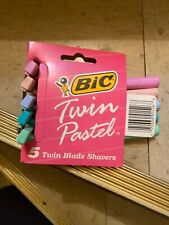 Vintage bic twin pastel shavers 5 pack brand new