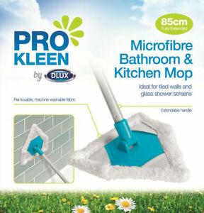 Microfibre TRIANGULAR TELESCOPIC MOP Bathroom Corner Shower Tile Glass Cleaning