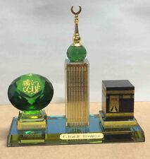 Crystal Glass Makkah Mecca Clock Tower Allah Kaaba Quran Islamic Home Eid Gift