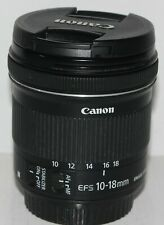 Canon EF-S 10-18mm f/4.5-5.6 IS STM lens in excellent condition