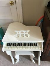 Schoenhut 30 Key Baby Grand Piano With Bench - White