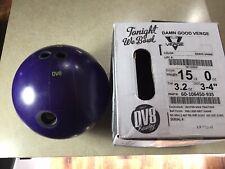 New listing DV8 Damn Good Verge Right Hand Drilled 15lb Bowling Ball