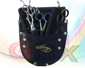 GBX UK Leather Black Barber/Saloon Hairdressing Scissor Holster Waist Pouch/Bag