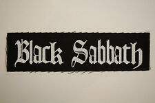 "Black Sabbath Cloth Patch Sew On 6"" X 1.5"" Metal Rock Motorhead (CP137)"