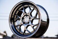 18x9.5 Aodhan DS01 5x114.3 +30 Black Vacuum Rims Fits Accord Tsx Tiburon TL Rsx