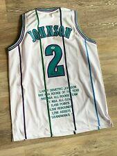 Larry Johnson autographed signed STAT jersey NBA Charlotte Hornets PSA w/ COA