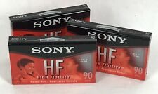 3 SONY HF High Fidelity Cassette Tapes Lot 90 min New Blank Recordable B9-20