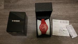 Casio G-Shock Carbon Core Guard Red Resin GA-2100 5611 Watch CasiOak JDM Japan