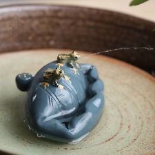 1pc China Yixing purple clay tea decorated lotus leaf frog tea pet