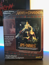 Code 3 Collectibles Army of Darkness Movie Poster Sculpture