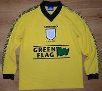 ENGLAND NATIONAL TEAM 1997/1998/1999 GREEN FLAG FOOTBALL SHIRT UMBRO #10 SIZE XL
