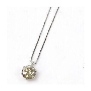 Jewelry Pendant Necklace   Diamond 1.261ct Platinum 1810822