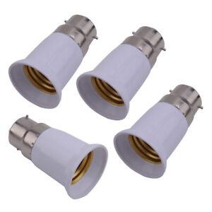 4Pcs B22 To E27 Adapter Converter Lamp Holder Base Socket For LED Light Bulbs