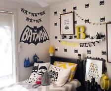 40Pcs Superhero Batman Mask Wall Sticker Boys Room Decal For Nursery Decor
