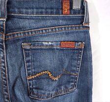 Seven 7 For All Mankind Denim Jeans Women's 24 x 29 Bootcut Embellished Gems