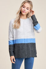 NEW STACCATO filly flair boutique fuzzy colorblock striped sweater top M