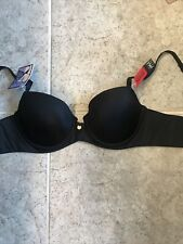 Spanx Pillow Bra AlaMoDe Pillow Cup Bra Size 36A Black Underwires NWT