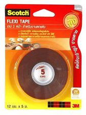 3M SCOTCH FLEXI TAPE DOUBLE SIDED UV PROTECTION AUTOMOTIVE CAR OUTDOOR 12mm X 5m