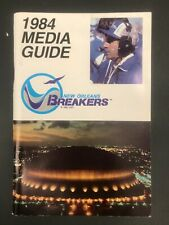 Rare Vintage New Orleans Breakers 1984 USFL Media Guide - Excellent Condition