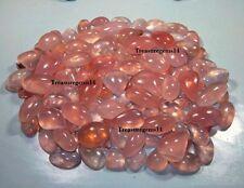 250 CT WHOLESALE LOT NATURAL PINK ROSE QUARTZ MIX CABOCHON HOT TOP GEMSTONE AAA
