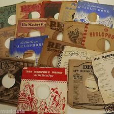 "20x 10"" 78 rpm original printed paper record / gramophone sleeves , random sel."