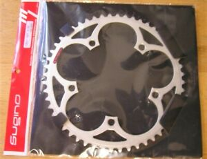 SUGINO Standard Road chainring 52T 130mm bcd Silver Matte finish NEW