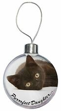 Black Kitten 'Purrrfect Daughter' Christmas Tree Bauble Decoration Gif, PD-185CB