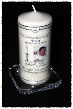 "Dad large personalised photo Memorial 6"" inch candle   #8"