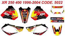 5022 HONDA XR 250 400 1996-2004 Autocollants Déco Graphics Stickers Decals Kit