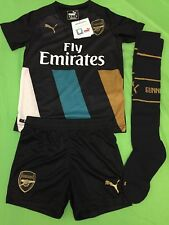 Arsenal third football kit for boys or girl size 5/6 years