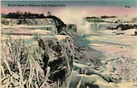 Vintage Postcard - Winter Scene American Falls Niagara Falls New York NY #3686