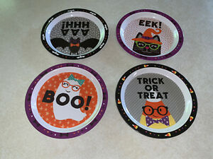 Novogratz Kids 4 Piece Plate Set Halloween Melamine New