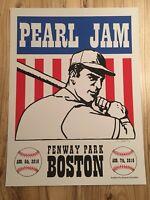 2016 ARTST SIGNED Pearl Jam Fenway Park Concert Poster Shuss # S/N Print Boston