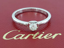 Légers De Cartier 0.13 ct 18K White Gold Round Diamond Solitaire Engagement Ring