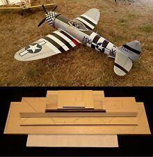 """76"""" wingspan P-47D Thunderbolt R/c Plane short kit/semi kit and plans"""