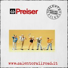 PREISER 10461 SET PERSONAGGI: Lavoratori con picconi e vanghe - 1/87