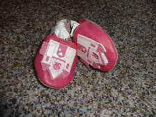 ROBEEZ INFANT 0-6 PINK DRAGON IN CASTLE LEATHER SHOES