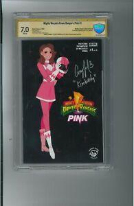 Amy Jo Johnson Autograph w INSCRIPTION on #1 of 6 BOOM Comic Auto POWER RANGERS