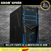 Caja ATX Ordenador Pc Gaming de Sobremesa Torre Kron Azul USB Frontal Con Fuente