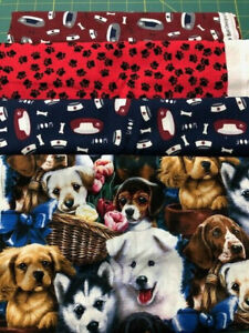 4 yards of Assorted Fabrics, dogs, #5-22, 100% Cotton