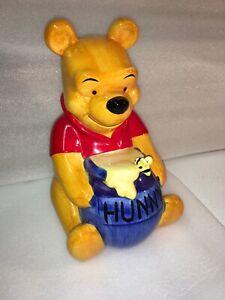 Vintage Walt Disney Winnie The Pooh Hunny Bee Pot Ceramic Bank Christopher Robin
