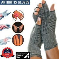 Copper Compression Gloves Carpal Tunnel Arthritis Pain Relief Therapeutic Brace