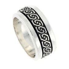 Neues AngebotHandgemacht Sterlingsilber Keltische Knoten Design Mitte Spange Ringe