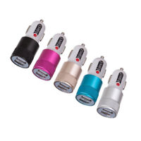 Dual Twin USB In Car charger cigarette lighter adapter for iPhones, Samsung, Htc