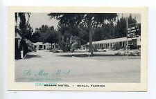 Ocala FL Florida (Marion Co) Rexana Motel, Silver Springs Blvd tiny car, linen