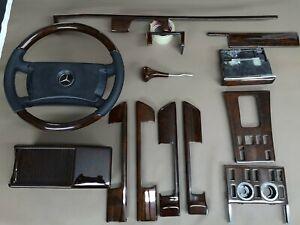 Mercedes benz C126 W126 wood Trim Set With Steering Wheels 560sec 500sel 126