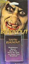 Fancy Dress Black Tooth Wax Make Up Halloween Tramp Face Paint NEW P5460